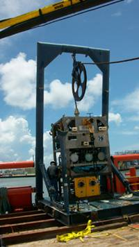 jet Edge custom engineered a psi waterjet intensifier pump to power a robot operated waterjetting lance and blast away
