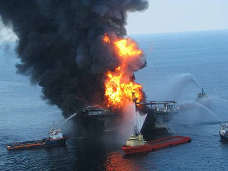 burning oil rig explosion fire photo