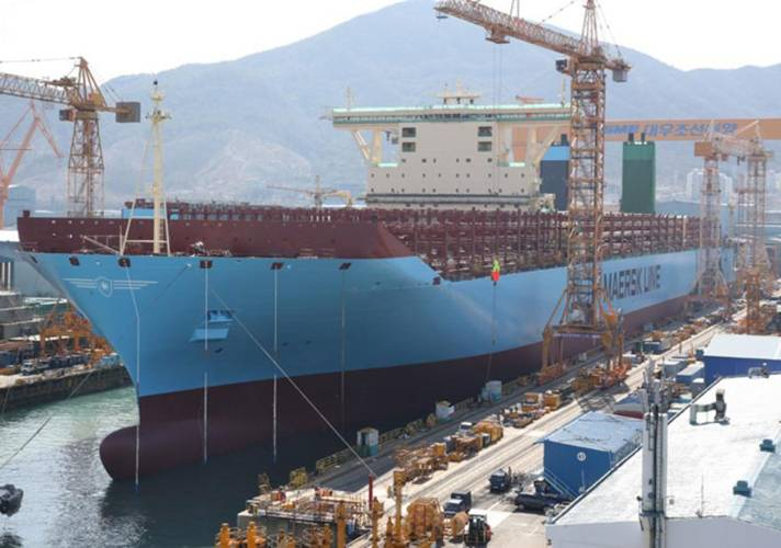 First Triple E Class Vessel Launched South Korea